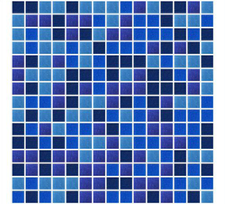 Royal Blue Random Mix Glass Mosaic Tiles
