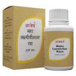 Mahalaxmi Vilas Rasa 50片剂,按照医生,包装类型:瓶子