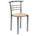 Stainless Steel Cafe Chair, Load Capacity : 50 To 80 Kg