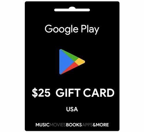 Google Play Usa 25 Dollar Gift Card At