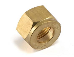 Jitrons Round Brass Olive Nut, For Compression Fittings
