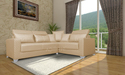Adorn India Bentley Corner Sofa ( Beige)