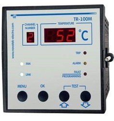NOVATEK ELECTRO 100 to 240 VAC, 24 VDC Dry Transformer Protection Temperature Controller TR-100M