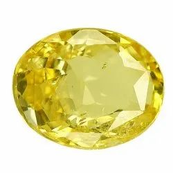 Top Color Oval - Cut Eye Clean Ceylon Yellow Sapphire