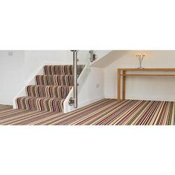 Striped Jute Floor Carpet, For Home, Hotel