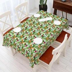 Crystalflakes Rectangular Multicolor Plastic Table Cover, Size: 54x78 Inch