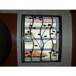 Black Aluminium Window Grill