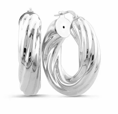 47fd5b1af Netaya Casual Sterling Silver 925 , Twisted Hoop Earrings, Rs 1800 ...