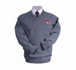 Grey School Uniform Pullovers