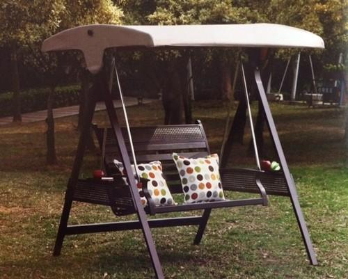Metal White And Dark Brown Outdoor Swing 2 Seater Aj S1 Rs 40000