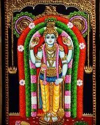 Guruvayur appa Tanjore Painting