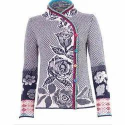 Full Sleeves Ladies Designer Woolen Sweater, Size: S To XXL