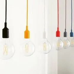 Cable Plastic E 27 Lamp Holder for Home
