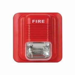 Plastic Fire Alarm Hooter With Flash Light for Office