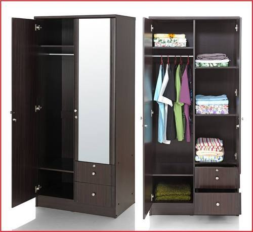 Brown Standard Wooden Cupboard Womenz Modular Designers Private Limited Id 14962860212