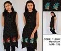 Floral Embroidered Women's Casual Hand-loom Kurti