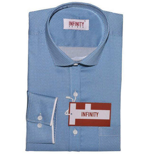 Blue Mens Designer Shirt