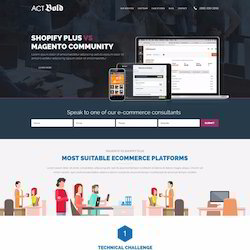 magento landing pages