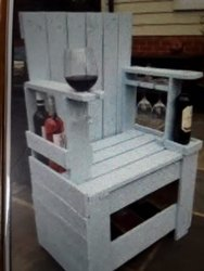 Wooden Wine Chair