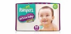 Pampers Active Baby Diapers M-62
