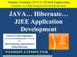 Summer Training - Java-Hibernet-J2EE Application Development