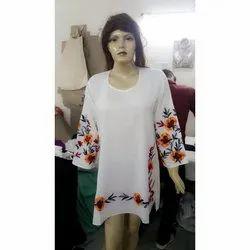 White Printed Ladies Dress
