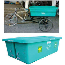 Dustbin Container for Pedal Cycle Rickshaw