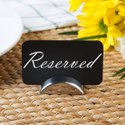 Stainless Steel Semi Circle Card Holder