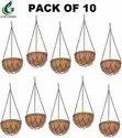 Coir Garden 10 Inches Brown Coir Hanging Basket