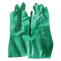 Green Plain PVC Gloves