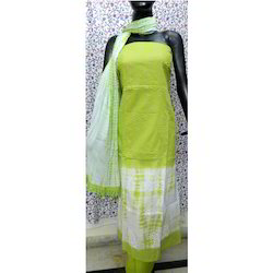 Cotton Unstitched Aaditri Green Thread Work Suit