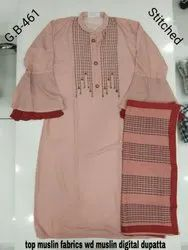 Khwaish Embroidered Muslin Suit