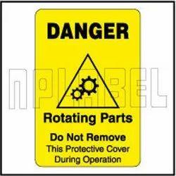 420023 Rotating Parts Warning Sticker