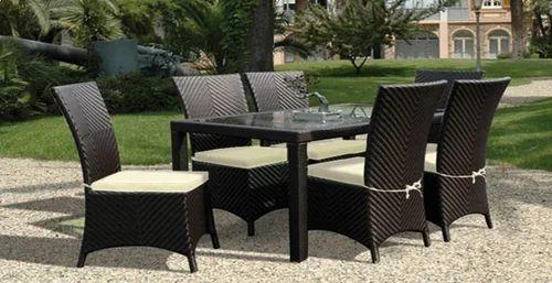 Brown Garden Furniture Sets: Brown Wrought Iron Rattan Furniture, Rs 85000 /set, Global