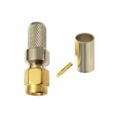 SMA Male Crimp Type Connector for LMR 300 RF Coaxial Cable