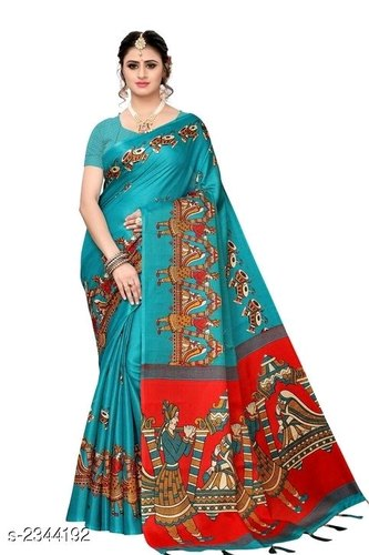 Printed Cotton Rachna Sarees, 6 m (with blouse piece)