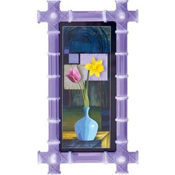 HIPS Purple Wall Hanging Photo Frame, For Decoration