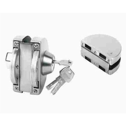 SMG Stainelss Steel Double Door Lock, Chrome