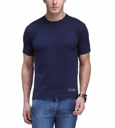 db03e20b Dry Fit Polyester Half Sleeve AWG Dry Fit Round Neck T-shirt - Navy Blue