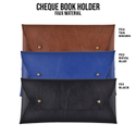 Faux Leather Cheque Book Holder