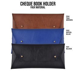 Faux Leather Cheque Book Holder, Size: Height 5 Inch X Width 10 Inch