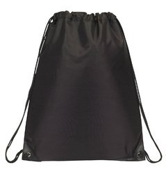 Black Backpack Drawstring Bag