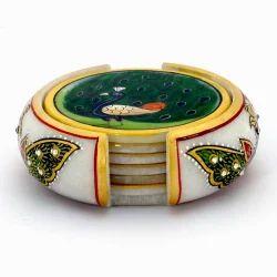 Meenakari Painting Tea Coaster Set 374