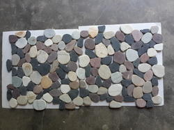 Mix Colour Pebble Stone Mosaic Tile