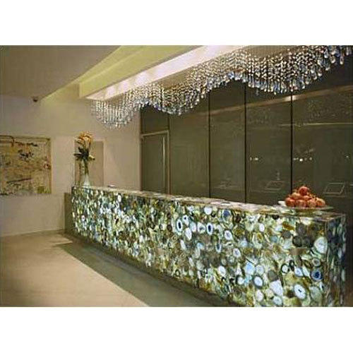 Semi Precious Stone Slabs Agate Gemstone Counter Top