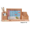 Wooden Table Top Calendar