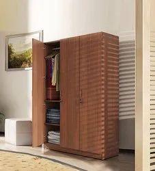 Wooden Four Door Wardrobe