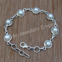 Pearl Gemstone 925 Sterling Silver Jewelry Bracelet