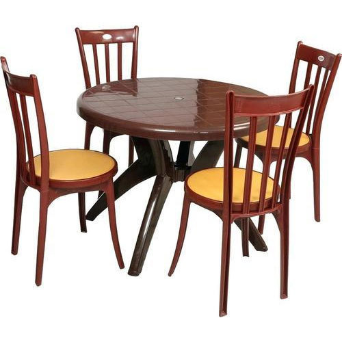 Round And Rectangular Plastic Dining Table Rs 12000 Set Id