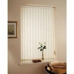White PVC Vertical Window Blinds